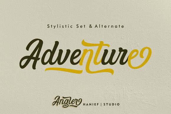 Download Free Angler Font By Hanzel Studio Creative Fabrica for Cricut Explore, Silhouette and other cutting machines.