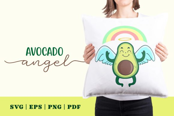 Print on Demand: Avocado Angel Graphic Illustrations By Momentos Crafter