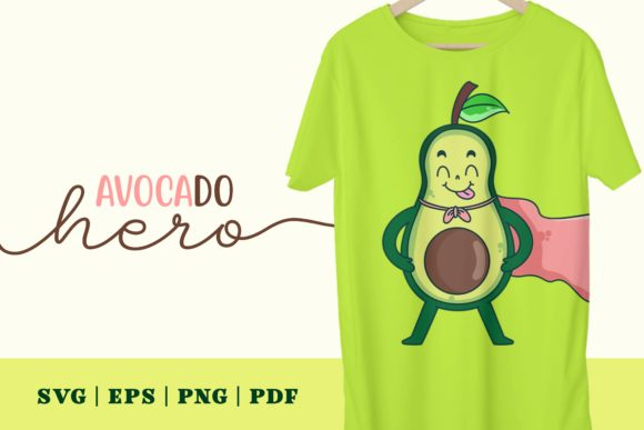 Print on Demand: Avocado Hero Graphic Illustrations By Momentos Crafter
