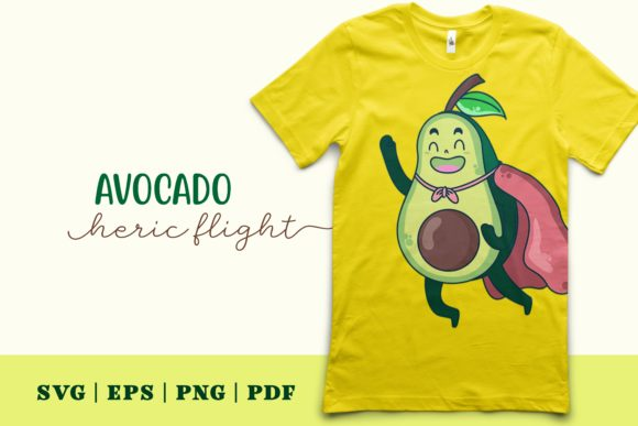 Print on Demand: Avocado Heroic Flight Graphic Illustrations By Momentos Crafter