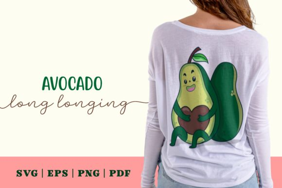 Print on Demand: Avocado Long Longing Graphic Illustrations By Momentos Crafter