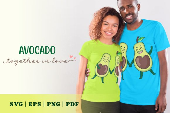 Print on Demand: Avocado Together in Love Graphic Illustrations By Momentos Crafter