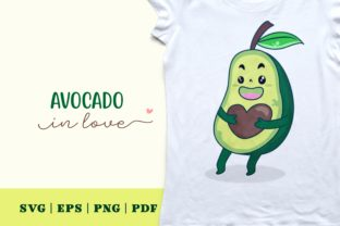 Print on Demand: Avocado in Love Graphic Illustrations By Momentos Crafter