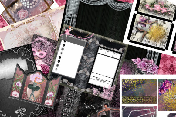 Ballerina Dreams Journal Kit Graphic Crafts By AHDesign