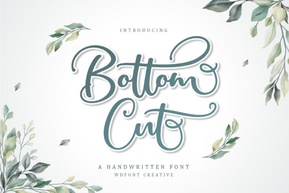 Print on Demand: Bottom Cut Script & Handwritten Font By wdfont.creative