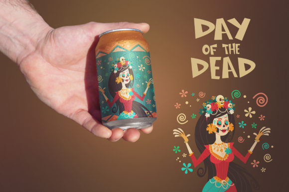Download Free Clean Hand Beer Can Mockup Graphic By Smartdesigns Creative SVG Cut Files