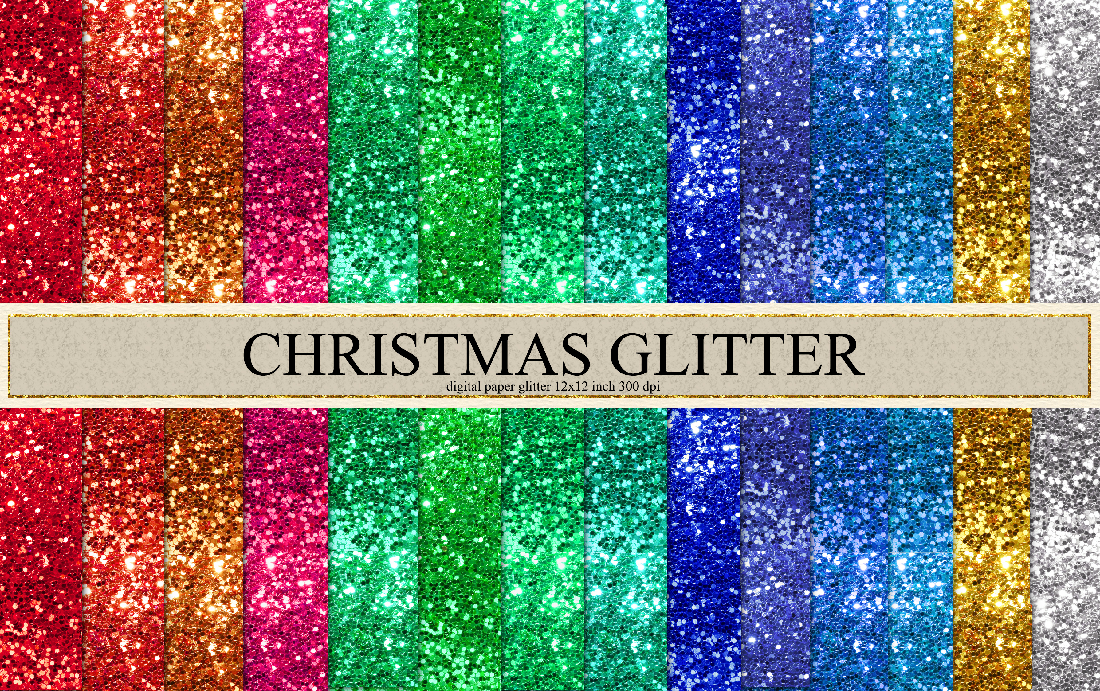 Download Free Christmas Glitter Christmas Printable Graphic By Therosemind for Cricut Explore, Silhouette and other cutting machines.