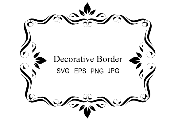 Download Free Fancy Border Graphic By Artbyliz Creative Fabrica for Cricut Explore, Silhouette and other cutting machines.