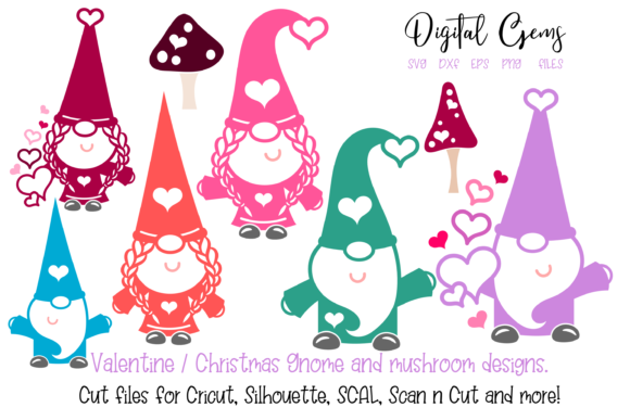 Download Free Gnome Designs Graphic By Digital Gems Creative Fabrica for Cricut Explore, Silhouette and other cutting machines.