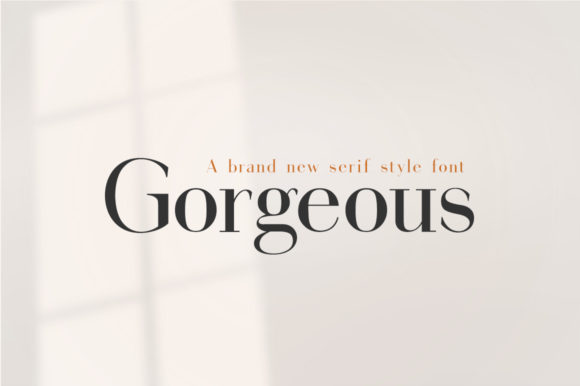 Print on Demand: Gorgeous Serif Font By Salt & Pepper Designs