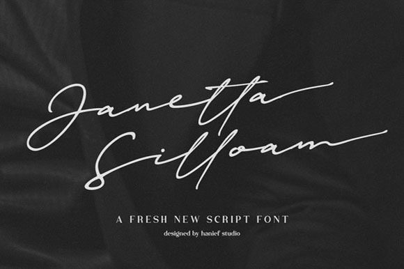 Print on Demand: Janetta Silloam Script & Handwritten Font By Hanzel Studio - Image 1