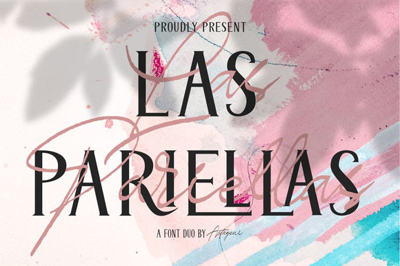 Print on Demand: Las Pariellas Duo Script & Handwritten Font By Flamde Studio