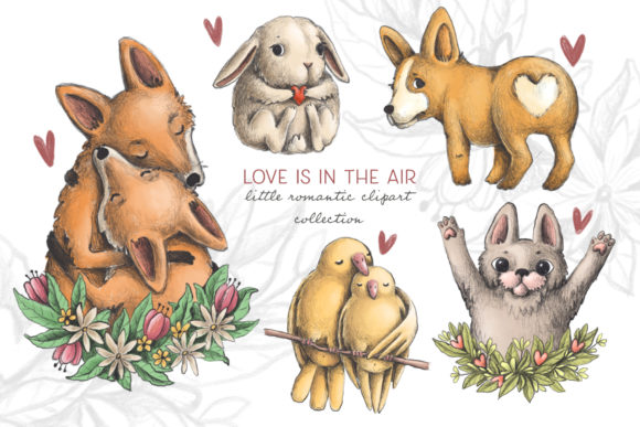 Print on Demand: Lovely Animals Graphic Illustrations By Architekt_AT - Image 1