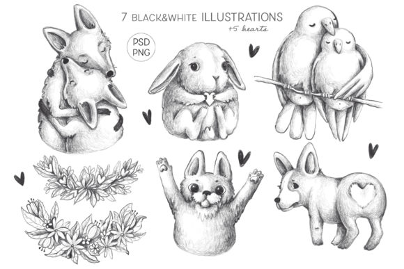 Print on Demand: Lovely Animals Graphic Illustrations By Architekt_AT - Image 6