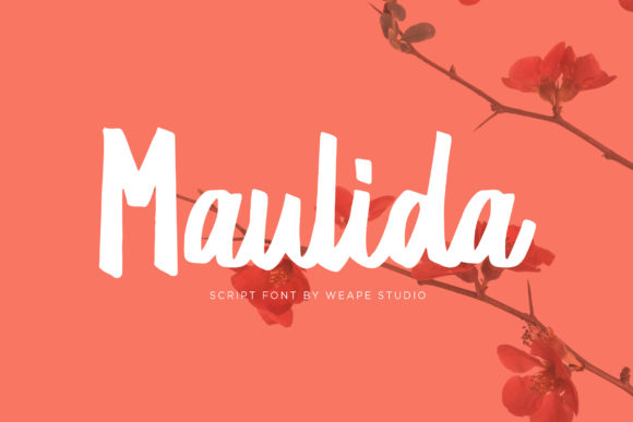 Print on Demand: Maulida Script & Handwritten Font By Weape Design