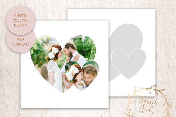 Print on Demand: PSD Photo Collage Template 4 Graphic Print Templates By daphnepopuliers