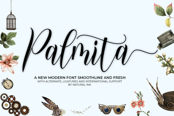 Print on Demand: Palmita Script & Handwritten Font By Natural Ink