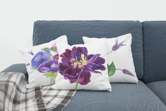 Print on Demand: Purple Bouquet Watercolor Clipart Graphic Illustrations By tpushnaya - Image 3