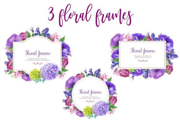 Print on Demand: Purple Bouquet Watercolor Clipart Graphic Illustrations By tpushnaya - Image 4