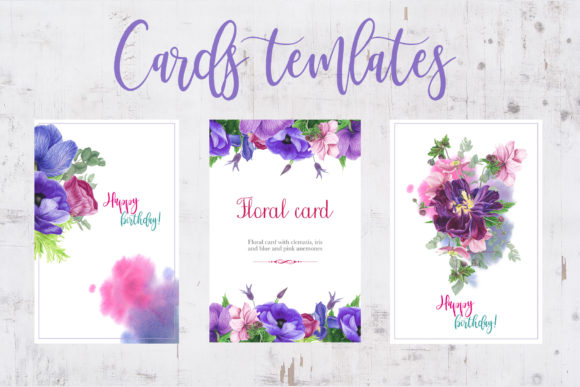 Print on Demand: Purple Bouquet Watercolor Clipart Graphic Illustrations By tpushnaya - Image 5