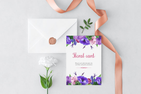 Print on Demand: Purple Bouquet Watercolor Clipart Graphic Illustrations By tpushnaya - Image 6