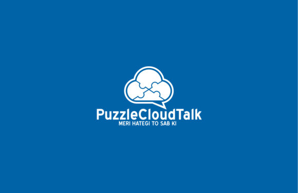 Download Free Puzzle Cloud Talk Logo Graphic By Shazdesigner Creative Fabrica for Cricut Explore, Silhouette and other cutting machines.