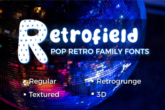Print on Demand: Retrofield Display Font By agustianes.aes