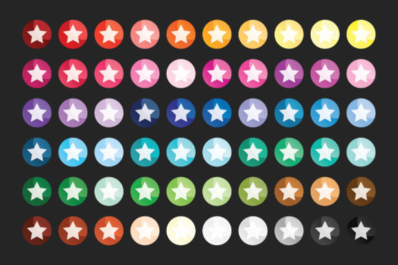 Print on Demand: Round Gradient Web Button Clip Art Set Graphic Illustrations By Running With Foxes - Image 5