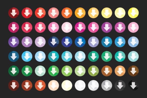 Print on Demand: Round Gradient Web Button Clip Art Set Graphic Illustrations By Running With Foxes - Image 7