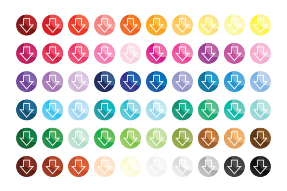 Print on Demand: Round Gradient Web Button Clip Art Set Graphic Illustrations By Running With Foxes - Image 8