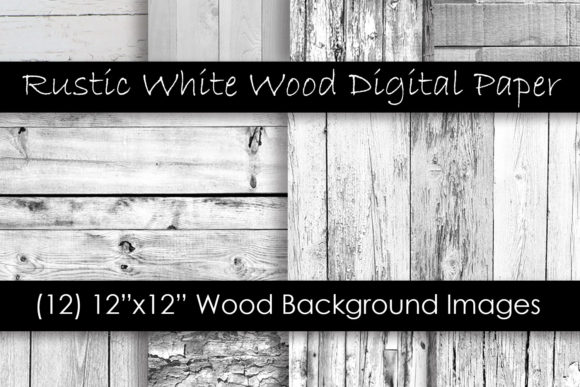 Rustic White Wood Textures Graphic Textures By GJSArt
