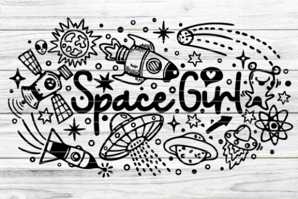 Space Girl Graphic Graphic Templates By seehas-design