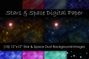 Stars & Space Backgrounds Graphic Backgrounds By GJSArt