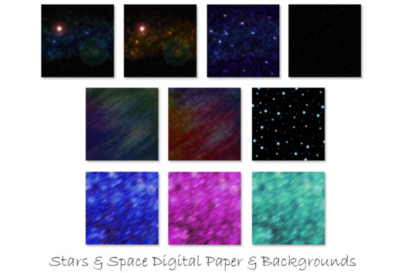 Stars & Space Backgrounds Graphic Download