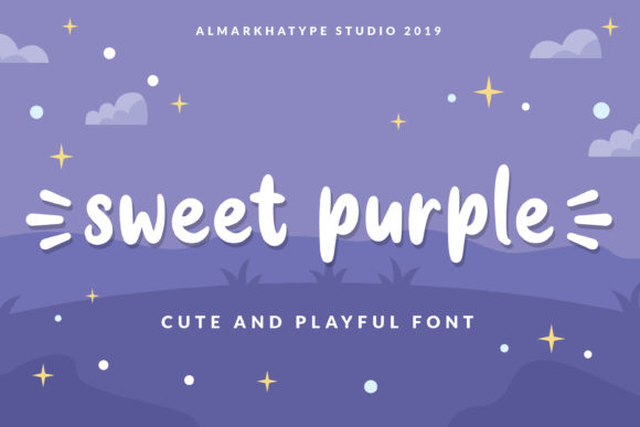 Print on Demand: Sweet Purple Script & Handwritten Font By almarkhatype