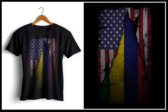 Download Free Us And Mauritius Flag Tshirt Design Graphic By Zaibbb for Cricut Explore, Silhouette and other cutting machines.