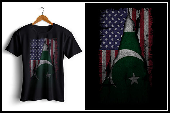 Download Free Us And Pakistan Flag Tshirt Design Graphic By Zaibbb for Cricut Explore, Silhouette and other cutting machines.