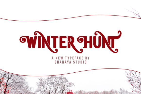 Print on Demand: Winter Hunt Slab Serif Font By Shanaya Creative