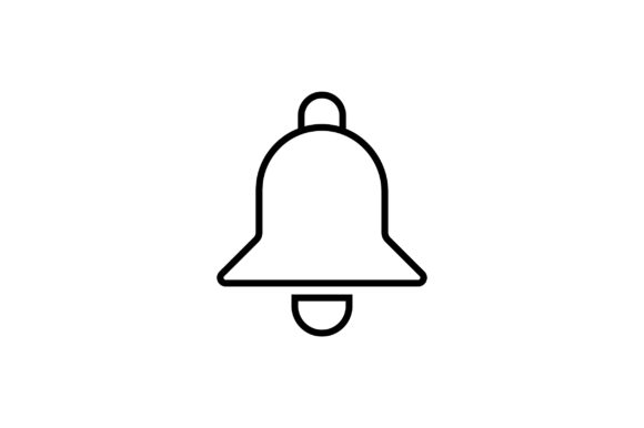 Download Free Bell Line Art Vector Icon Graphic By Riduwan Molla Creative for Cricut Explore, Silhouette and other cutting machines.