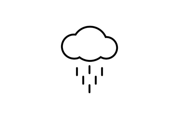 Download Free Cloud Rain Line Art Vector Icon Graphic By Riduwan Molla Creative Fabrica for Cricut Explore, Silhouette and other cutting machines.