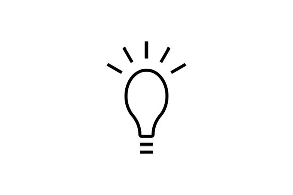 Download Free Idea Line Art Icon Vector Graphic By Riduwan Molla Creative for Cricut Explore, Silhouette and other cutting machines.