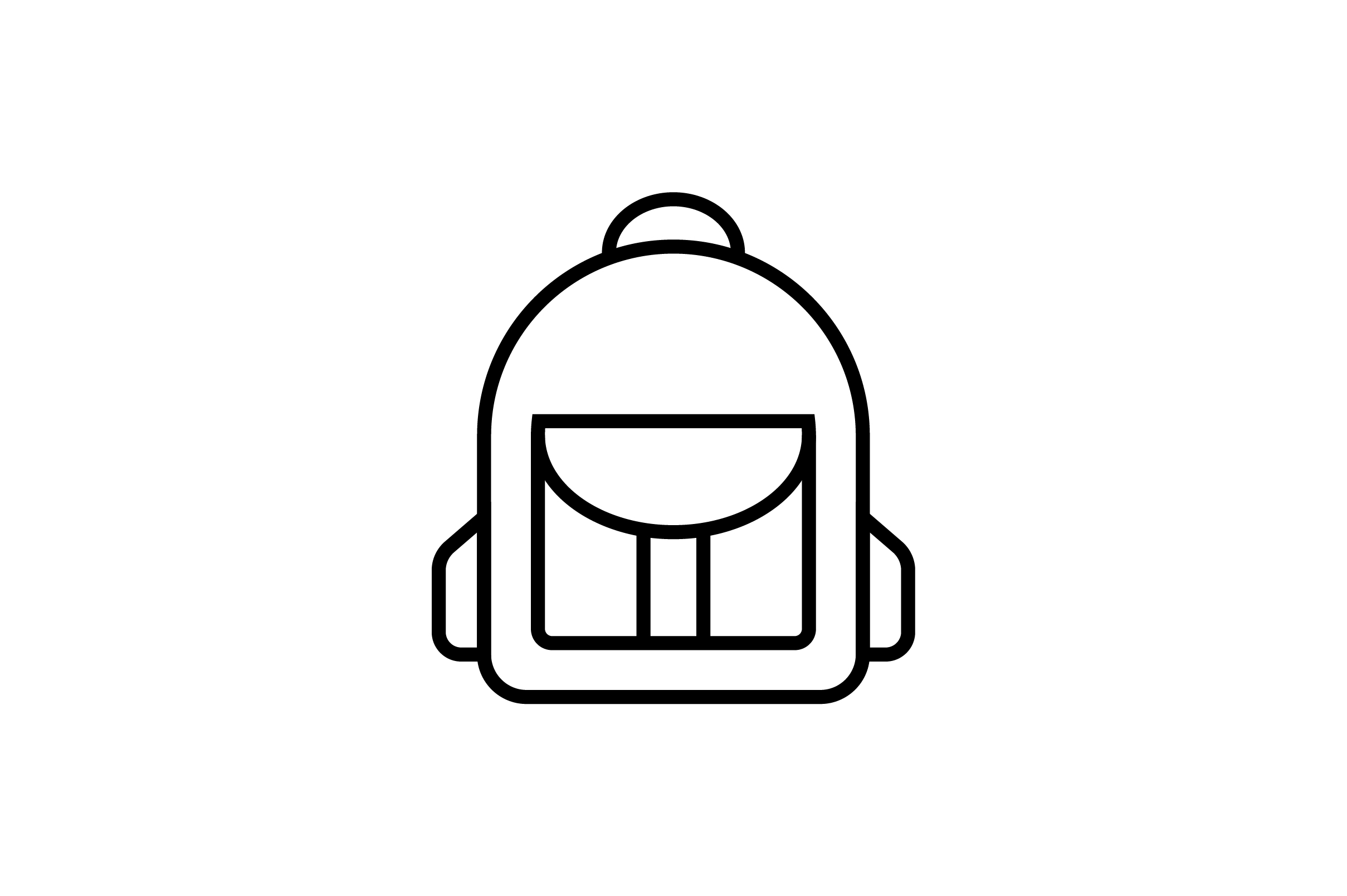 Download Free Office Bag Line Art Vector Icon Graphic By Riduwan Molla for Cricut Explore, Silhouette and other cutting machines.