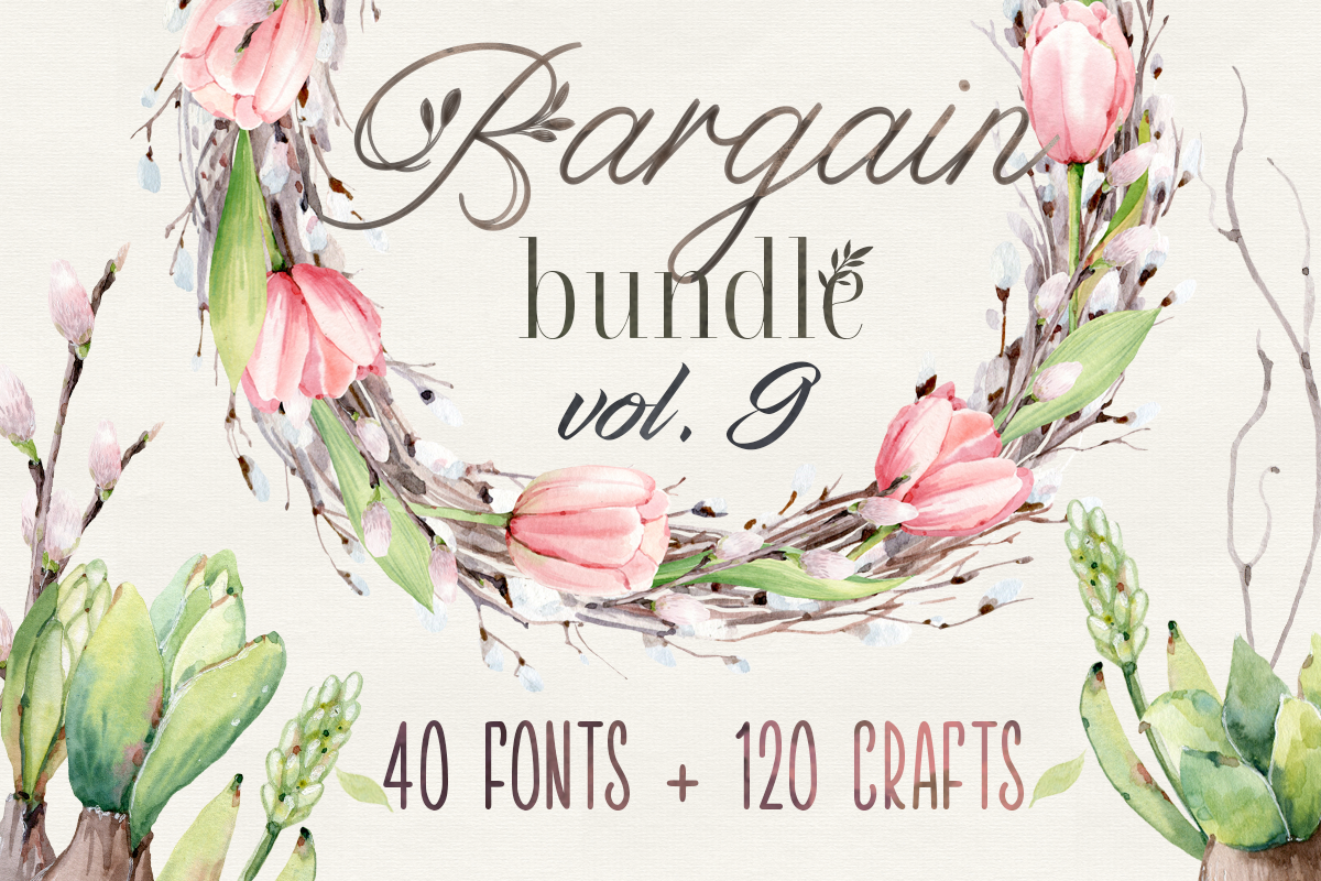 Download Free Bargain Bundle Vol 9 Bundle Creative Fabrica for Cricut Explore, Silhouette and other cutting machines.