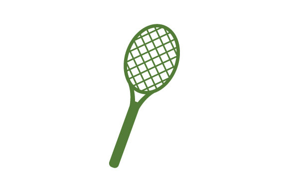 Download Free Tennis Racket Icon Graphic By Marco Livolsi2014 Creative Fabrica for Cricut Explore, Silhouette and other cutting machines.