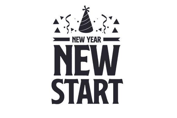 Download Free New Year New Start Svg Cut File By Creative Fabrica Crafts for Cricut Explore, Silhouette and other cutting machines.