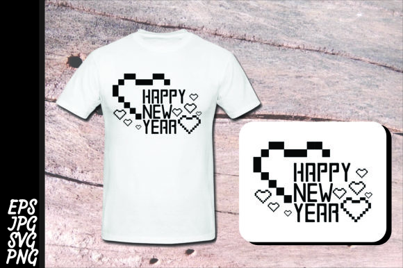 Download Free Printing Design Happy New Year Svg Graphic By Arief Sapta for Cricut Explore, Silhouette and other cutting machines.