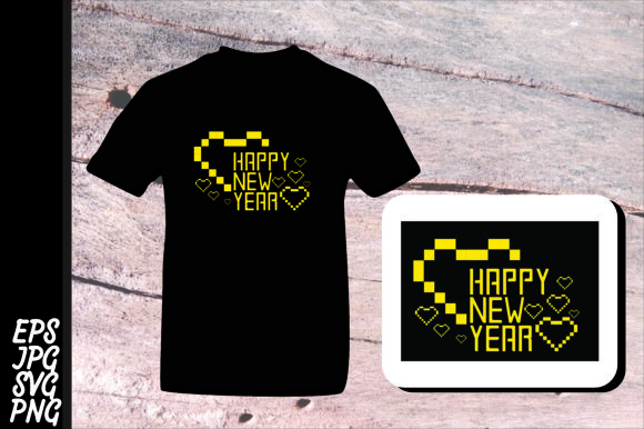 Print on Demand: Printing Design  Love Happy New Year SVG Graphic Crafts By Arief Sapta Adjie