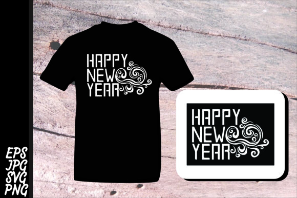 Download Free Printing Happy New Year Svg Graphic By Arief Sapta Adjie Creative Fabrica for Cricut Explore, Silhouette and other cutting machines.