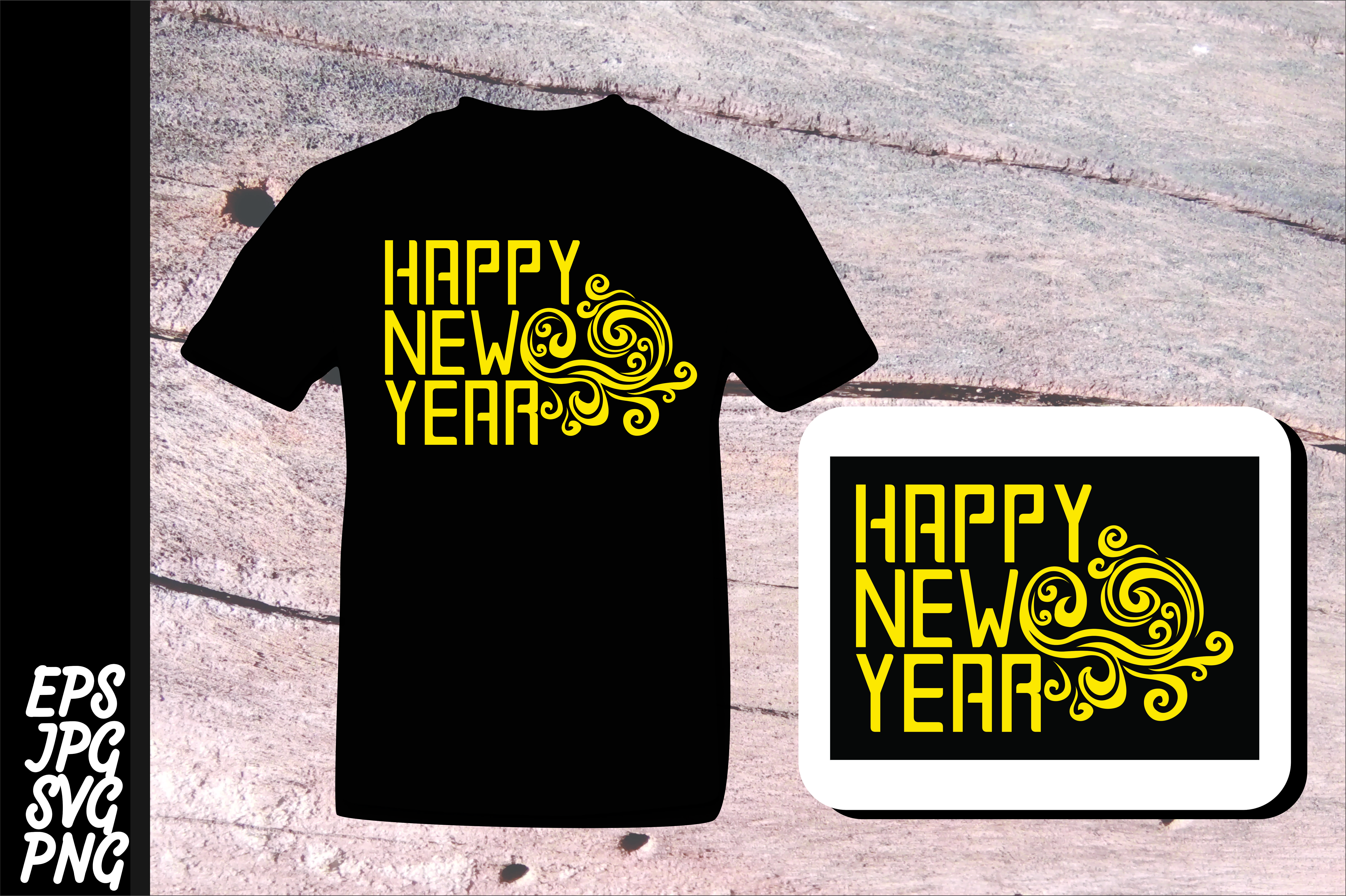 Download Free Printing Happy New Year Svg Graphic By Arief Sapta Adjie for Cricut Explore, Silhouette and other cutting machines.
