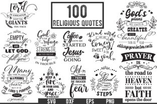 Download Free 100 Religious Quotes Graphic By Nerd Mama Cut Files Creative Fabrica for Cricut Explore, Silhouette and other cutting machines.